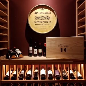 Keenan Wine Cellar With Copper Ceiiling