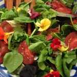 Keenan Winemaker Dinner Flower Salad