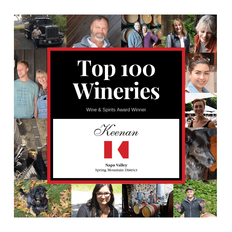 Keenan Awarded In The World's Top 100 Wineries For The Seventh Time!